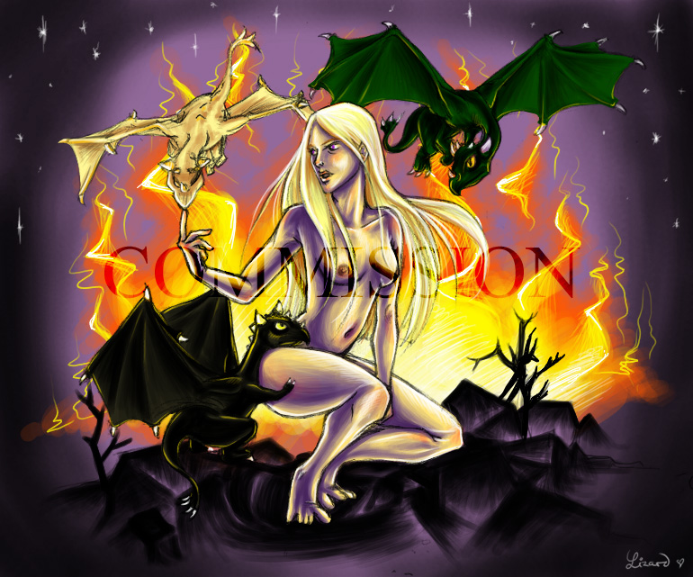 osha and fire song ice a of Highschool of the dead nipples